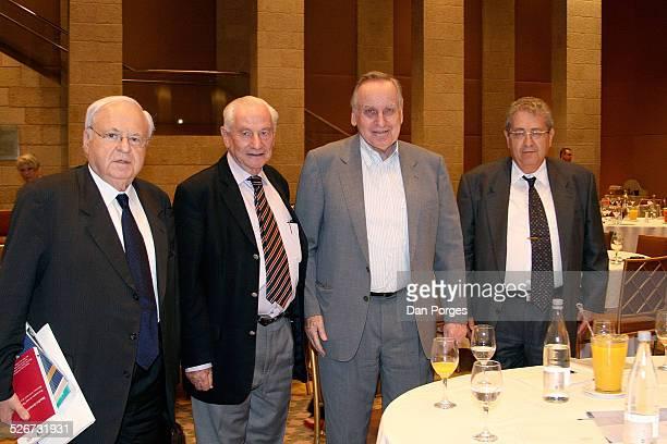 Meir Rosen or Rosenne former Israeli Ambassador to the US and France Gabriel Bach former Supreme Court Justice Zalman Shoval former Israeli...