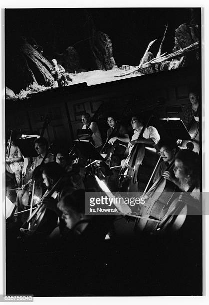 From the orchestra pit the dress rehearsal for the San Francisco Opera's production Siegfried takes place on the stage Composed by Richard Wagner