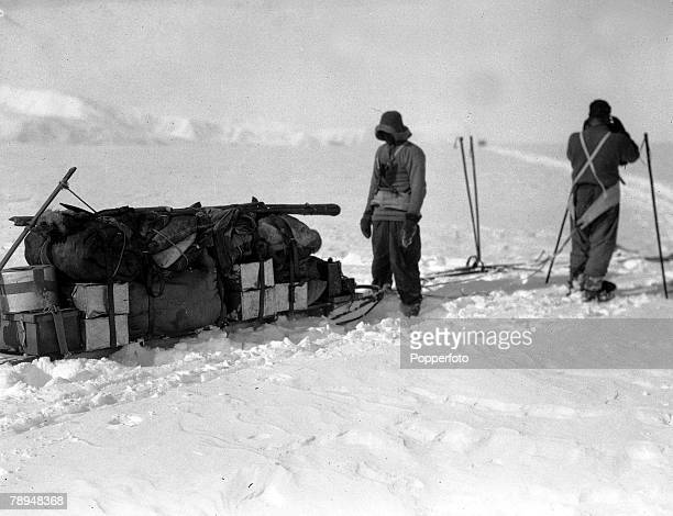 From the Ponting Collection Captain Robert Falcon Scott Photographer Scotts Antarctic Expedition 1910 1912 Expedition team members with their fully...