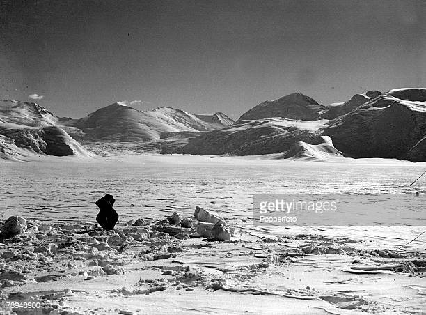 From the Ponting Collection Captain Robert Falcon Scott Photographer 15th December Scotts Antarctic Expedition 1910 1912 A view showing a snowy...
