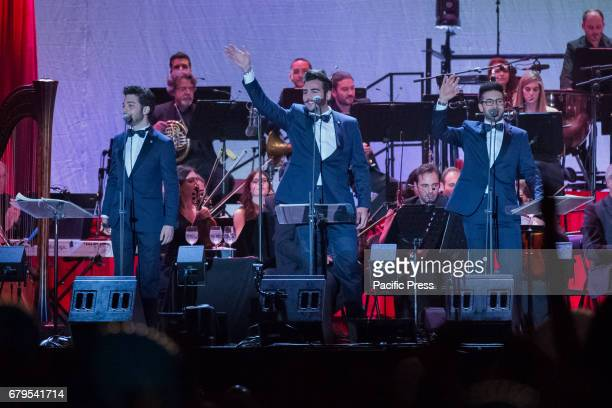 From the Savoy city with a sold out in great style the new tour of 'The Night of Magic Tribute to the Three Tenors' of the Boys of Il Volo In photo...