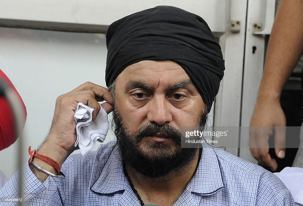 BJP MLA from the Shahdara Jitender Singh Shunty, meets supporters, after he was attacked and shot at by an unidentified man at their house in Vivek Vihar on September 3, 2014 in New Delhi, India. The attacker fired three-four times at Shunty but the MLA managed to escape unhurt.