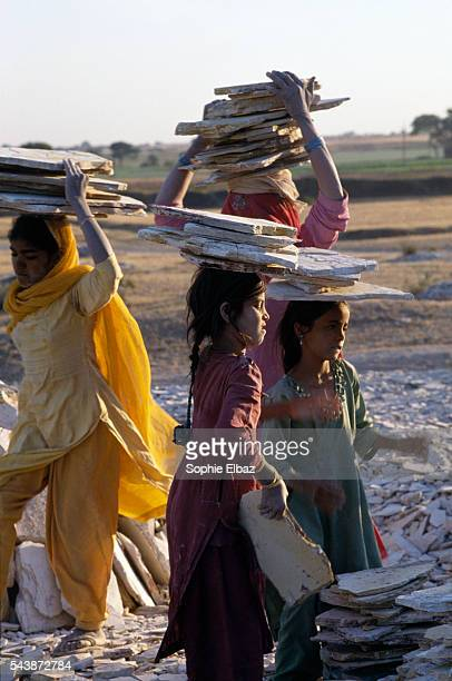 From the slate extracted from the mines the workshops produce boxes of 50 pencils for the sum of 3 rupees In spite of the law prohibiting the...