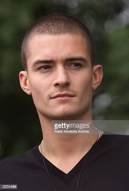From the upcoming film 'Lord of the Rings' is actor Orlando Bloom photographed at Chateau Castellaras in Castellaras France a suburb of Cannes...