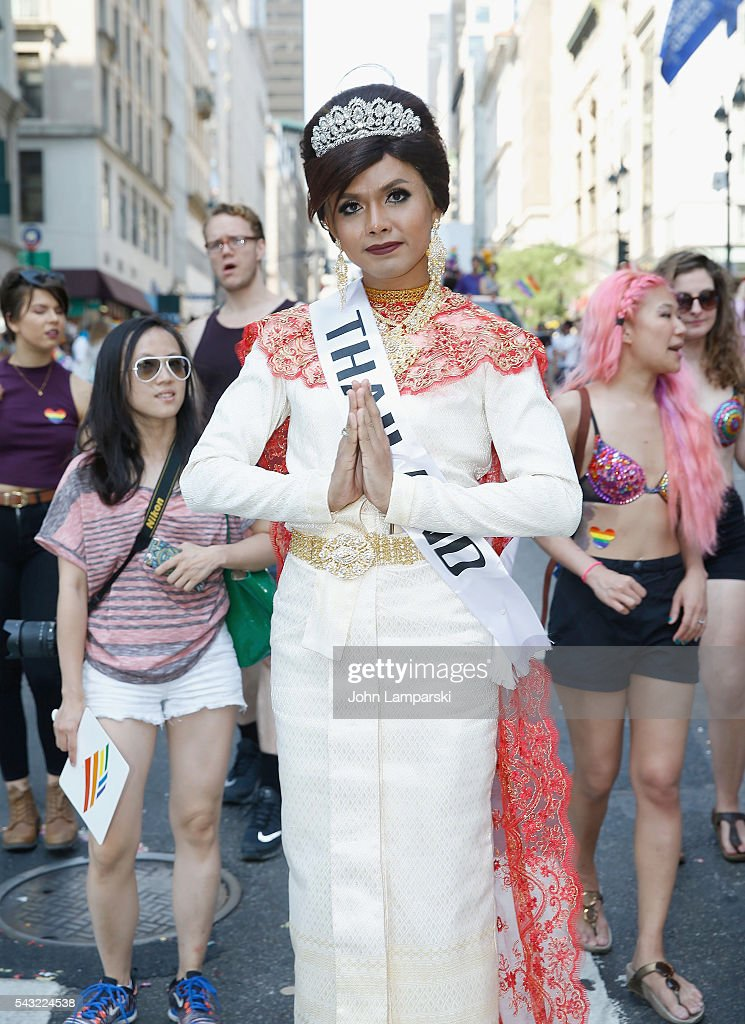 From Thiland, Miss Arm attends New York City Pride 2016 March at Pier 26 on June 26, 2016 in New York City.