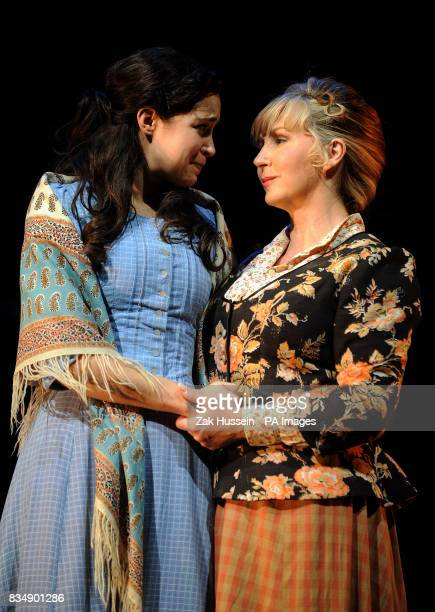 Alexandra Silber as Julie Jordan and Lesley Garrett as Nettie Fowler perform during a photocall for Carousel at the Savoy Theatre central London