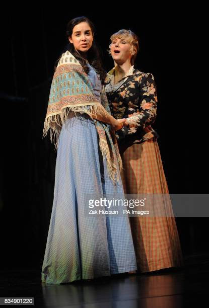 Alexandra Silber as Julie Jordan and Lesley Garrett as Nettie Fowler perform in scene from Richard Rodgers bad Oscar Hammerstein's 'Carousel' during...