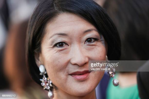 Fromer french Junior Minister for SMEs Innovations and Digital Economy Fleur Pellerin poses as she arrives on May 20 2017 for the screening of the...