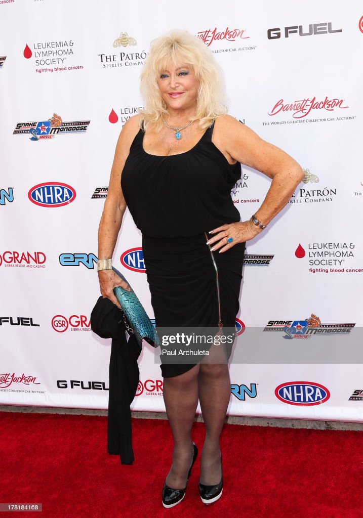 Fromer Model Linda Vaughn attends the premiere of 'Snake & Mongoo$e' at the Egyptian Theatre on August 26, 2013 in Hollywood, California.