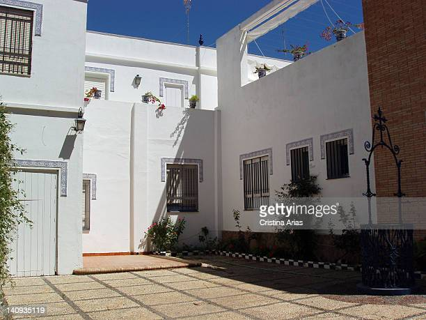 Front and backyard of the copla and flamenco singer Rocio Jurado in his hometown Chipiona Cadiz Andalucia Spain July 2006