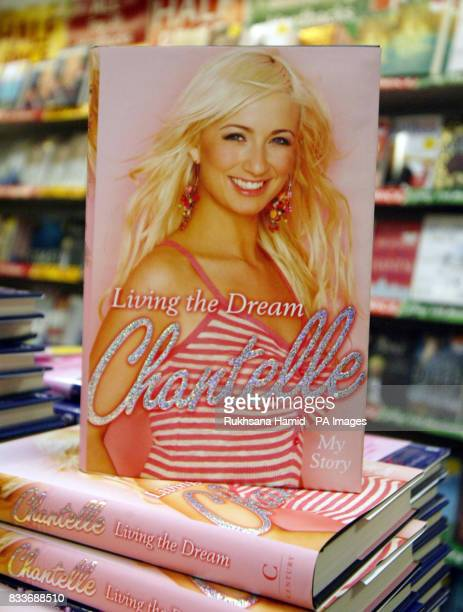 Front cover of Chantelle Houghton new book Living The Dream at WH Smith in Brent Cross shopping centre north London