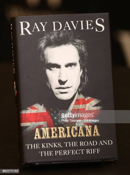 Front cover of Kinks frontman Ray Davies autobiography Americana The Kinks The Road and the Perfect Riff at its launch at Waterstones in Piccadilly...
