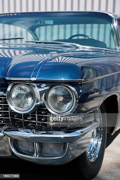 Frente detalhe De um carro antigo, Cadillac Coupe De Ville