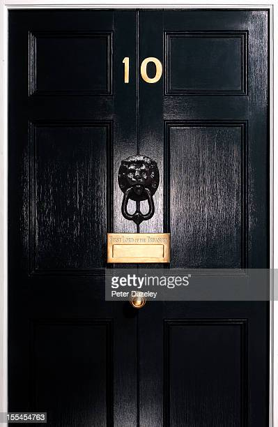 Front door, 10 Downing Street, close up