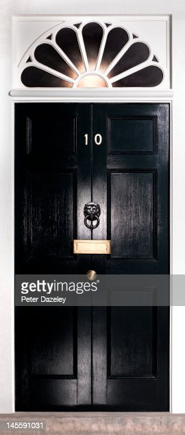 Front door 10 downing streetprime minister stock photo for Front door 10 downing street