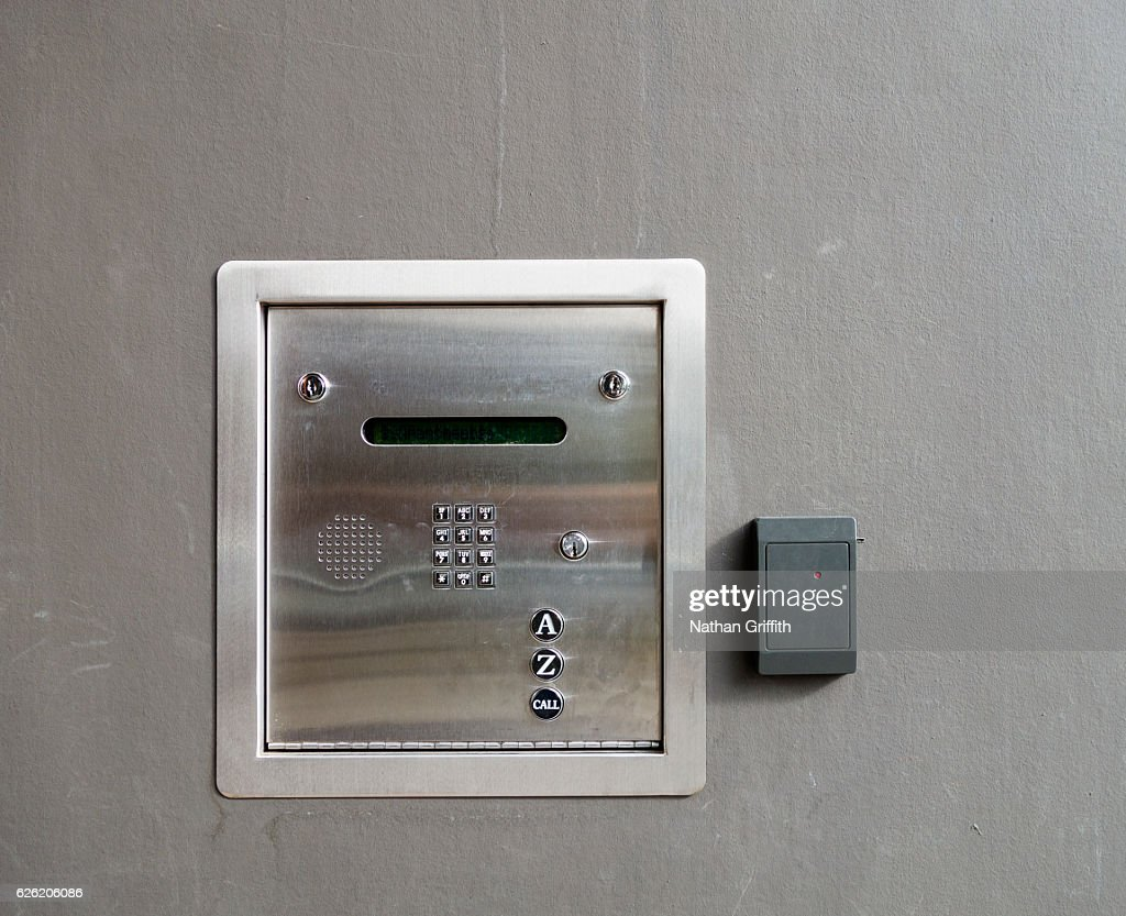 Front Door Buzzer To Apartments Stock Photo | Getty Images