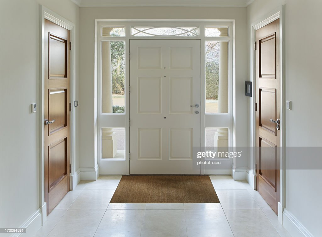 Front Door Entrance To Grand House : Stock Photo