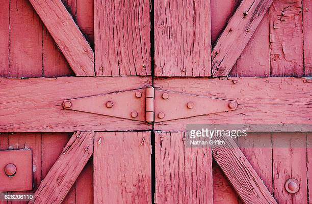front door of barn