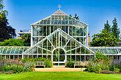 Greenhouse of the botanical garden of the University of Cambridge