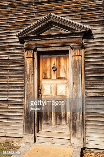 Front Door of the birthplace of John Adams : Stock Photo