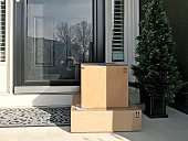 packages by the front door.