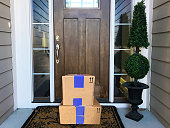 packages by a door