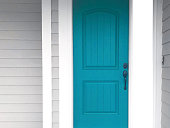 beautiful part of a turquoise door