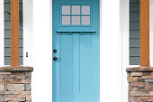 beautiful part of an aqua blue door