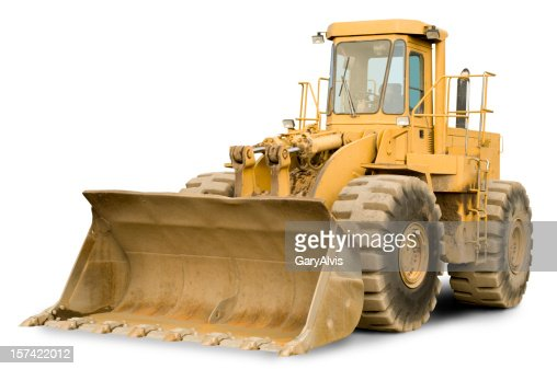 front end loader w clipping path