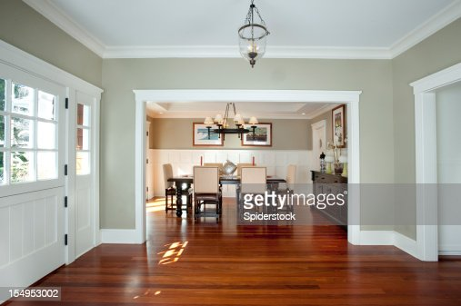 Dining room wall stock photos and pictures getty images for Dining room entrance