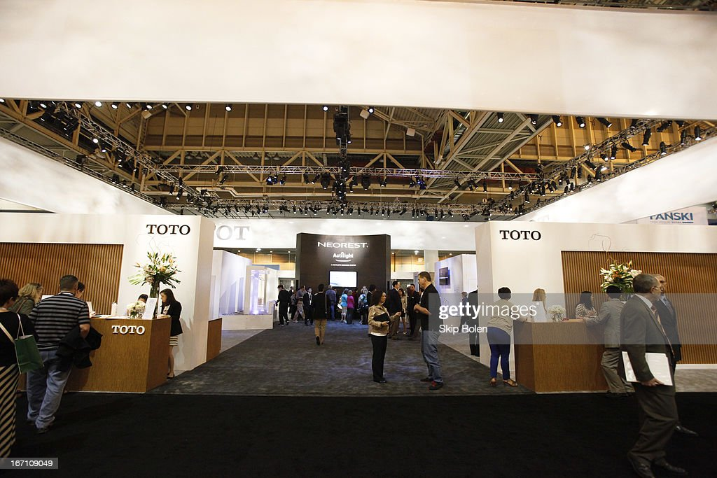 Front entrance into the TOTO USA booth at KBIS 2013 on April 20, 2013 in New Orleans, Louisiana.