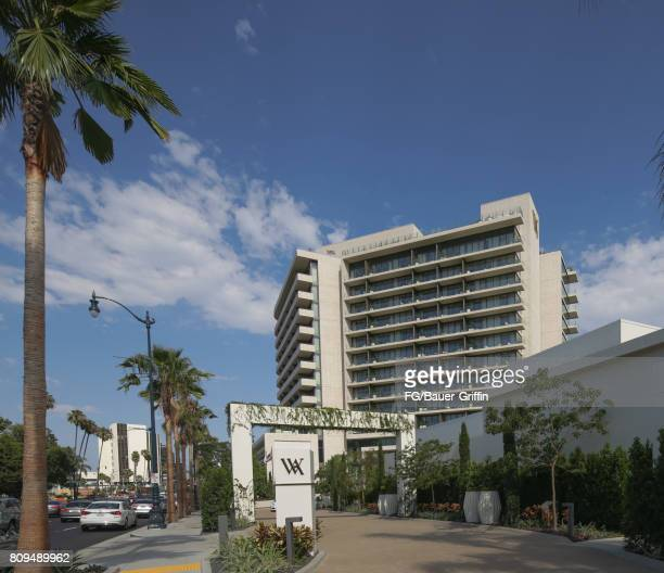 Front entrance of the new Waldorf Astoria Hotel in Beverly Hills on July 05 2017 in Beverly Hills California