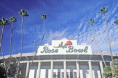 Front entrance to the Rose Bowl in Pasadena Pasadena California