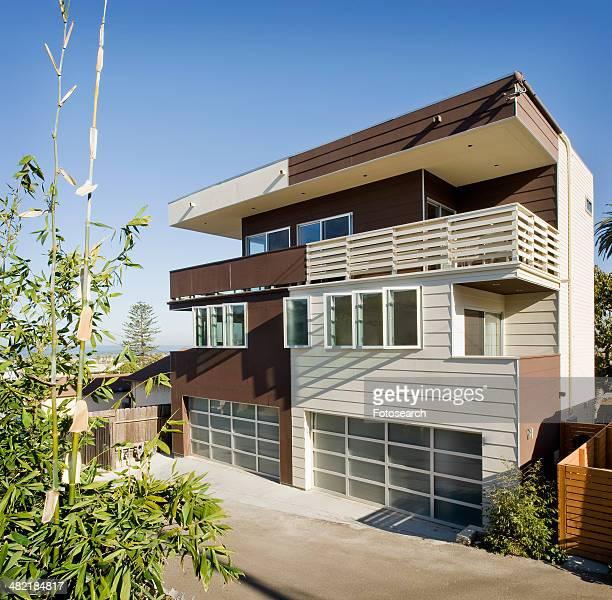 Front exterior a modern home