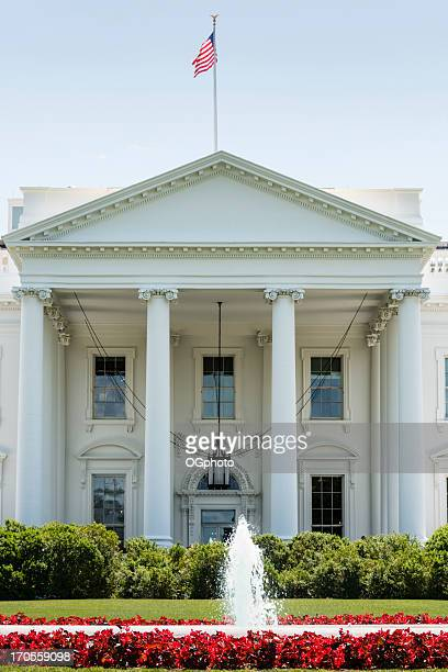 Front facade of the White House in Washington, DC