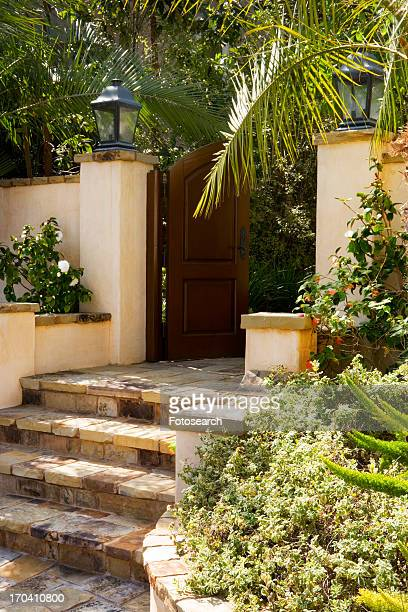 Front Gate and Steps to Spanish Style Home