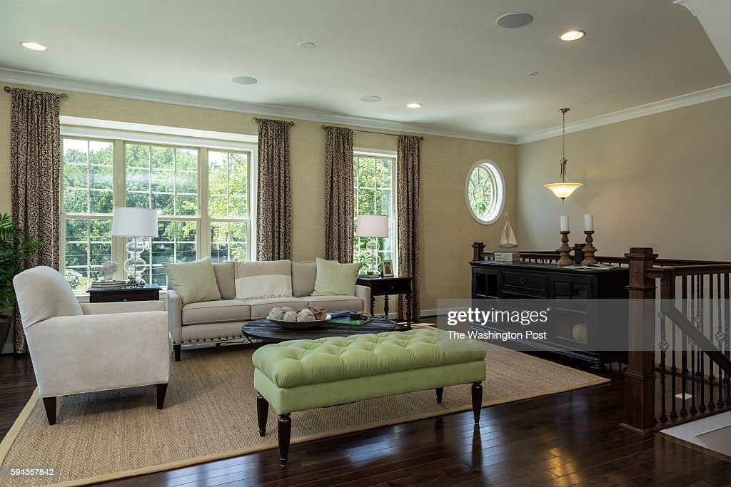 Front Living Area in the Edinburgh Model at Admirals Ridge on August 11 2016 in Arnold Maryland