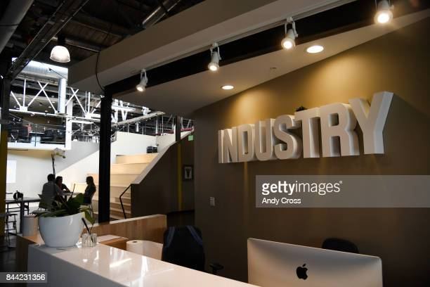 Front lobby of Industry Denver a coworking space along Brighton Blvd September 08 2017