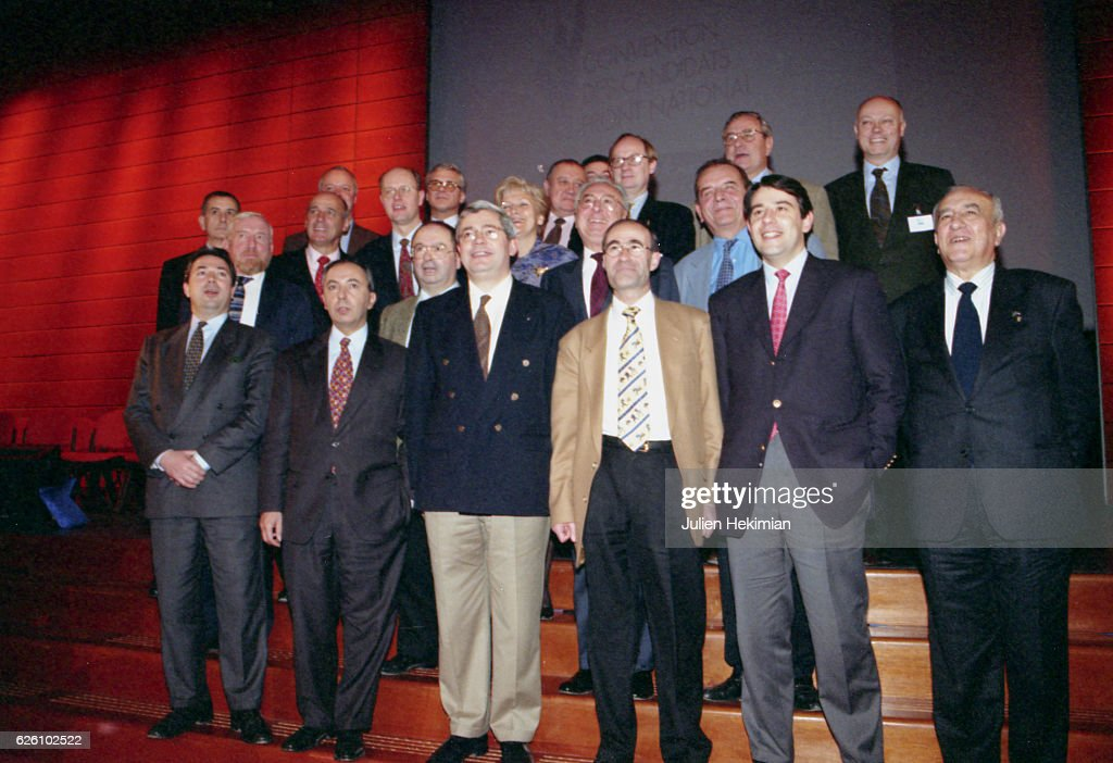Front National convention in Lyon, with Jean-Marie Le Pen and Samuel Marechal, Lyon, France, 18th January 1998.