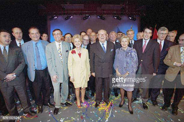 Front National convention in Lyon with JeanMarie Le Pen and Samuel Marechal Lyon France 18th January 1998