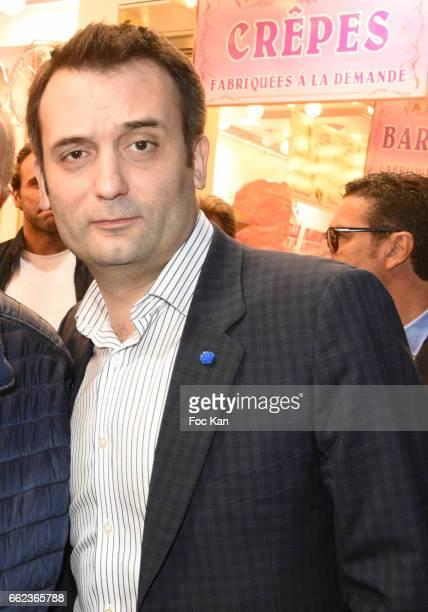 Front National Party deputy Florian Philippot attends Foire du Trone Auction Launch Party to benefit 'Les Petits Princes' Children Care Association...