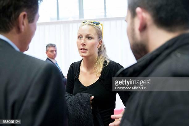 Front National party member of parliament Marion Marechal Le Pen visits the French Mayors Fair at the Paris Expo Porte de Versailles on June 1 2016...