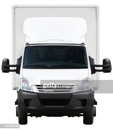 front of a small truck (clipping path included)