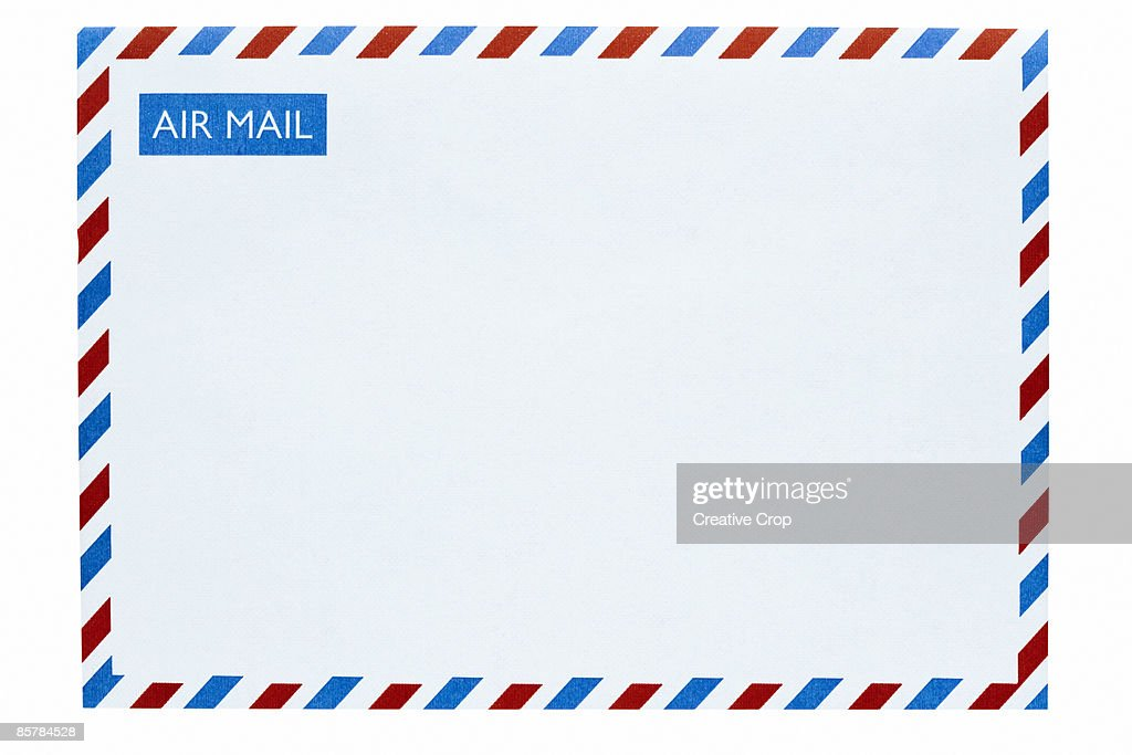 Front of an airmail envelope : Stock Photo