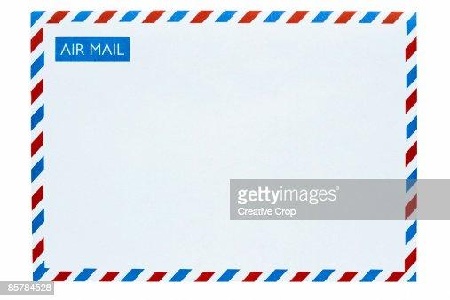 Front of an airmail envelope : Bildbanksbilder