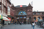 Front of central train stationHauptbahnhof in Bonn Germany 09 September 2014 Bonn that offers many touristic attractions was founded in the first...