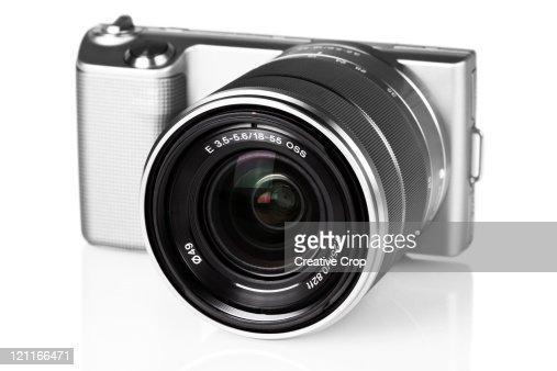 Front of digital camera : Stock Photo