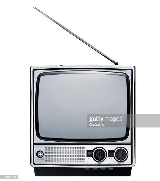 Vorderseite des alten grau-Fernseher