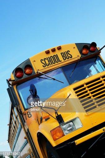 Front of yellow school bus
