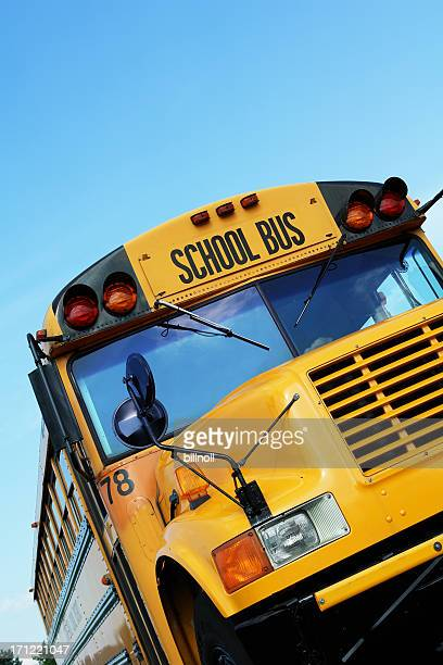 Front of yellow school bus